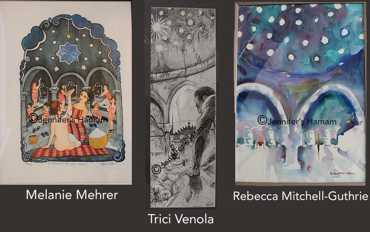 At Jennifer's Hamam, we feel that all art is important.  Currently, in the showroom, 3 artists are featured on our walls; Melanie Mehrer, Trici Venola & Rebecca Mitchell Guthrie.   These lovely pieces are for sale and 100% goes to the artist.   Drop by for a look the next time you are in town. #artists #art #Istanbul #Sultanahmet #jennifershamam #tricivenola #melaniemehrer #rebeccamitchellguthrie #towel #pestamel #cotton #organic #shopping #Turkish #American #Canadian