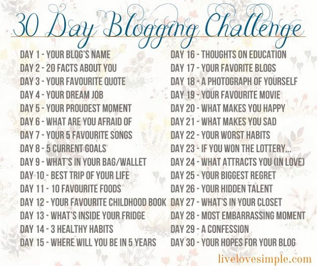 Seems Appropriate: 30 Day Blogging Challenge | BlogHer
