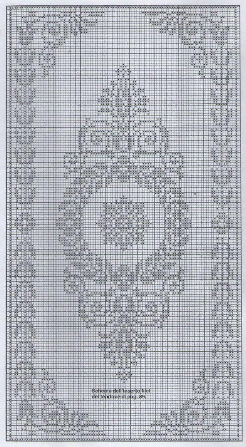 filet crochet or cross stitch chart