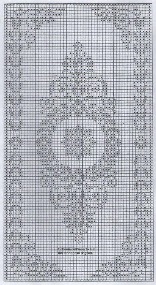 filet crochet or cross stitch chart