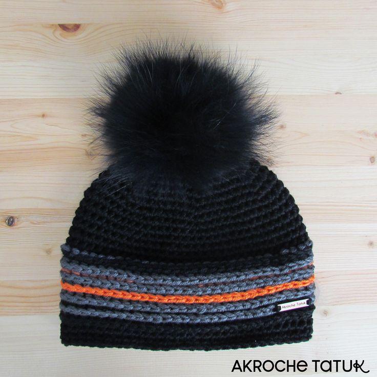 Men crochet hat pattern  patron tuque au crochet pour homme