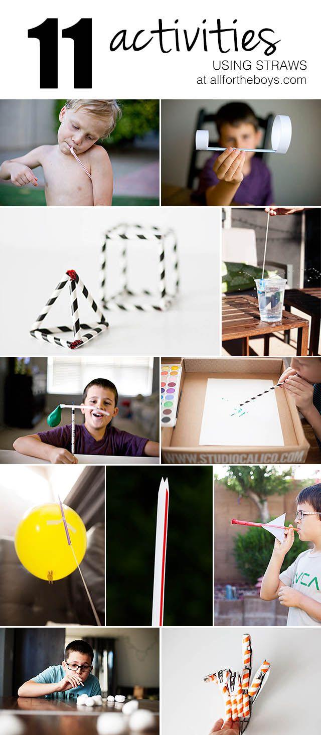 11 Activities using straws