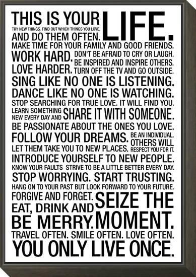 This Is Your Life Motivational Poster ART Pinterest Mesmerizing This Is Your Life Quote Poster