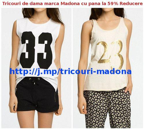 Tricouri de dama marca Madona cu pana la 59% Reducere