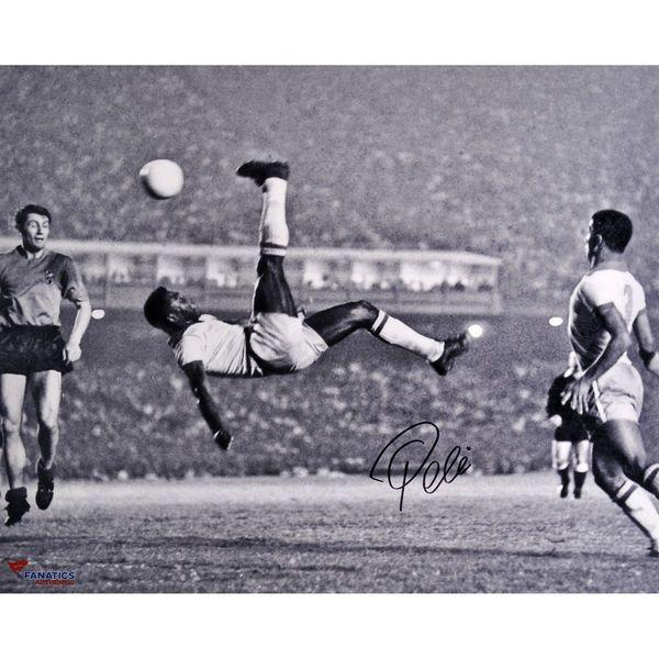 """Pele Brazil Fanatics Authentic Autographed 16"""" x 20"""" Bicycle Kick Photograph - $449.99"""