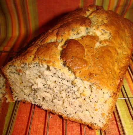 Banana Poppy Seed Quick Bread, for my squishy bananas!