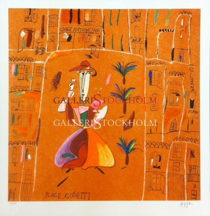 Madeleine Pyk - Litografi – Änglabukten Place Rosetti Beställ här! Klicka på bilden.
