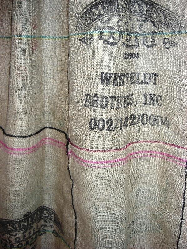 Burlap Coffee Bag Shower Curtain