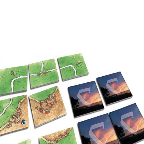 Mit eigenen Bildern versehene Landschaftsmarker für Carcassonne