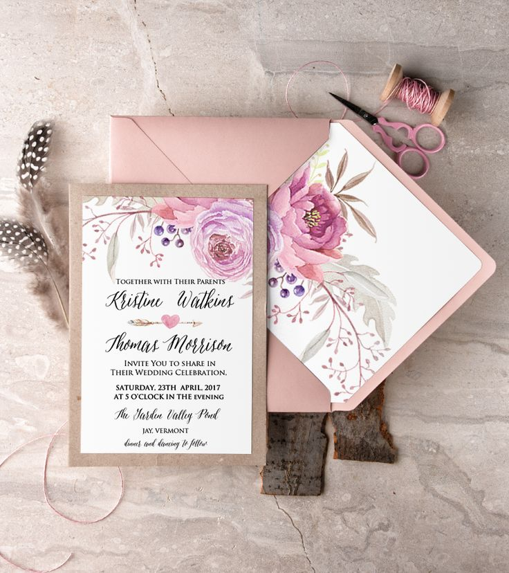 beautiful watercolor wedding invites from @4LOVEPolkaDots see more pretty #weddinginspo on their instagram here https://www.instagram.com/4lovepolkadots