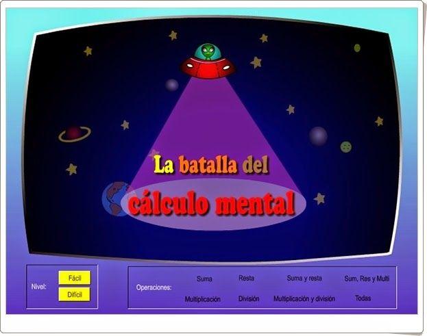 """""""La batalla del cálculo mental"""" (Juego de Matemáticas de Primaria)"""