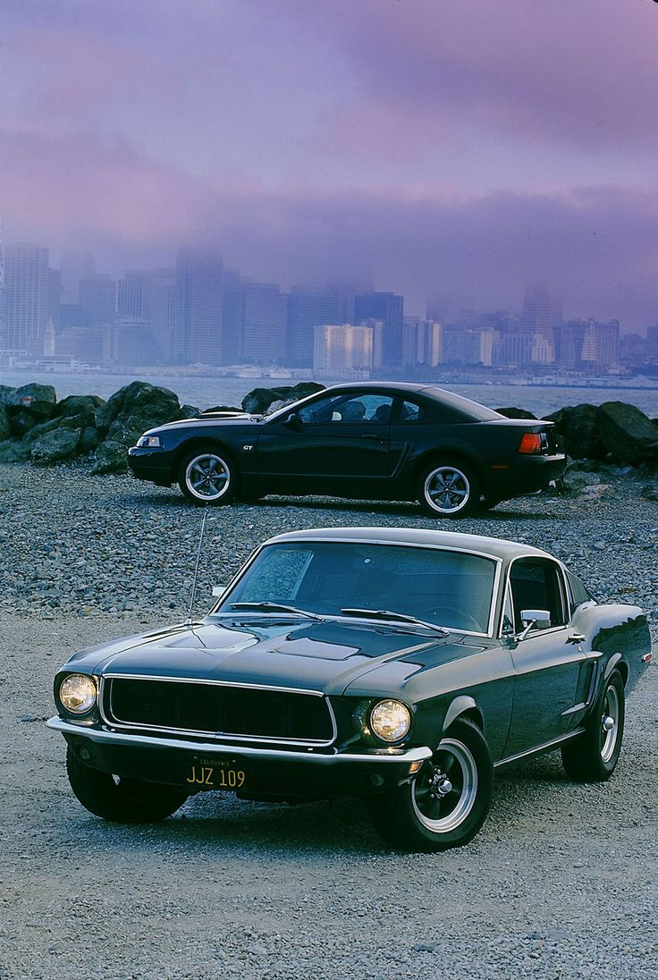 '68 Mustang GT390 and '01 Mustang Bullitt