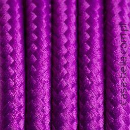 Przewód zasilający Skalny Fiołek od Kolorowe Kable-fioletowy kabel - casa-bella - oświetlenie to nasza pasja