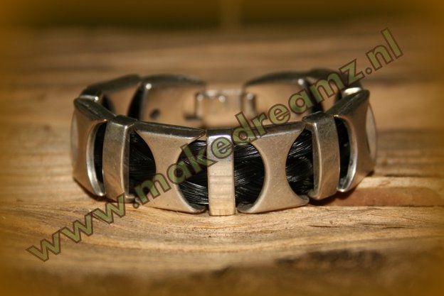 Armband Paardenhaar speciaal gemaakt door Makedreamz