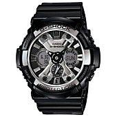 G-Shock Watch, Men's Analog-Digital Black Resin Strap 53mm GA200BW-1A