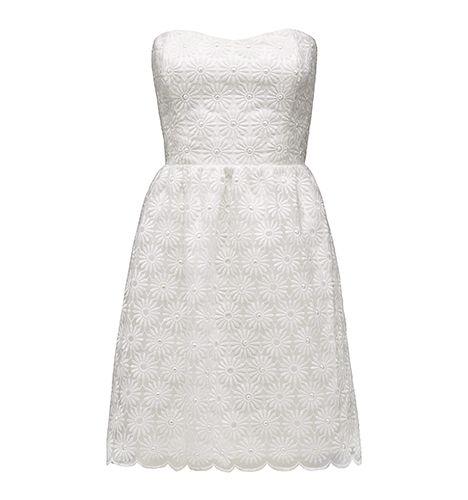 Forever New PORCELAIN LINDA SCALLOPED EDGE DRESS