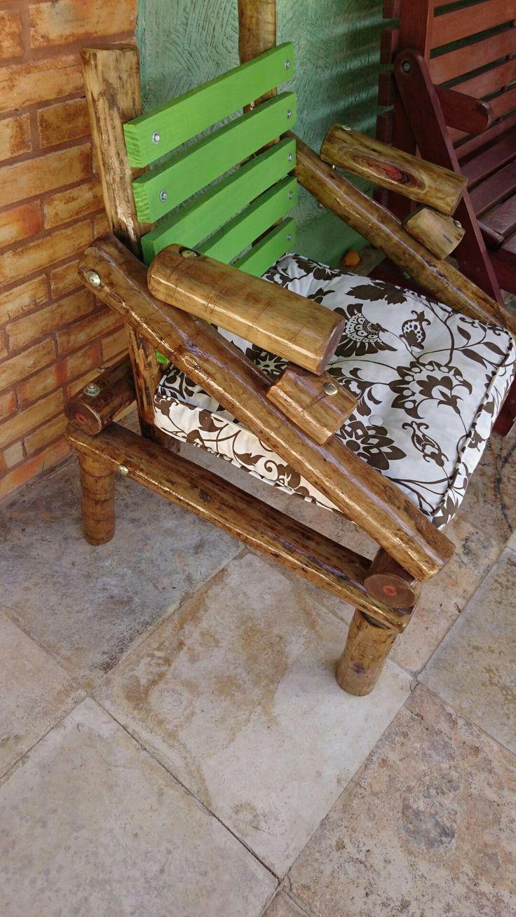 Eucalyptus wood, rustic chair