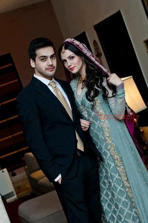 Pakistani model Aisha Linnea Akhtar (what a beautiful couple)