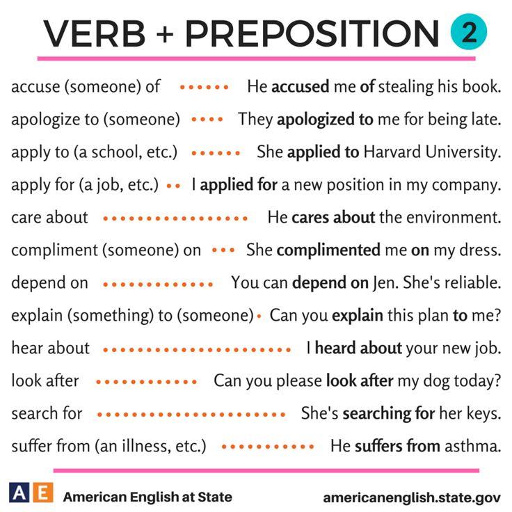 Verb + Preposition 2