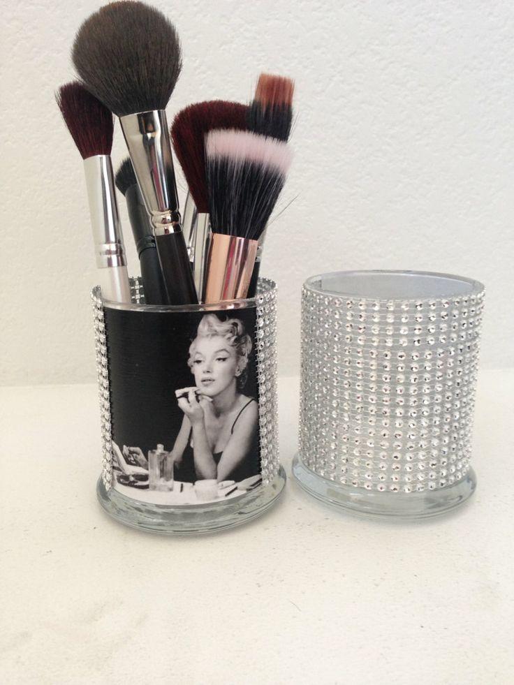 Marilyn Monroe inspired makeup brush holder by MLGalore on Etsy, $15.00