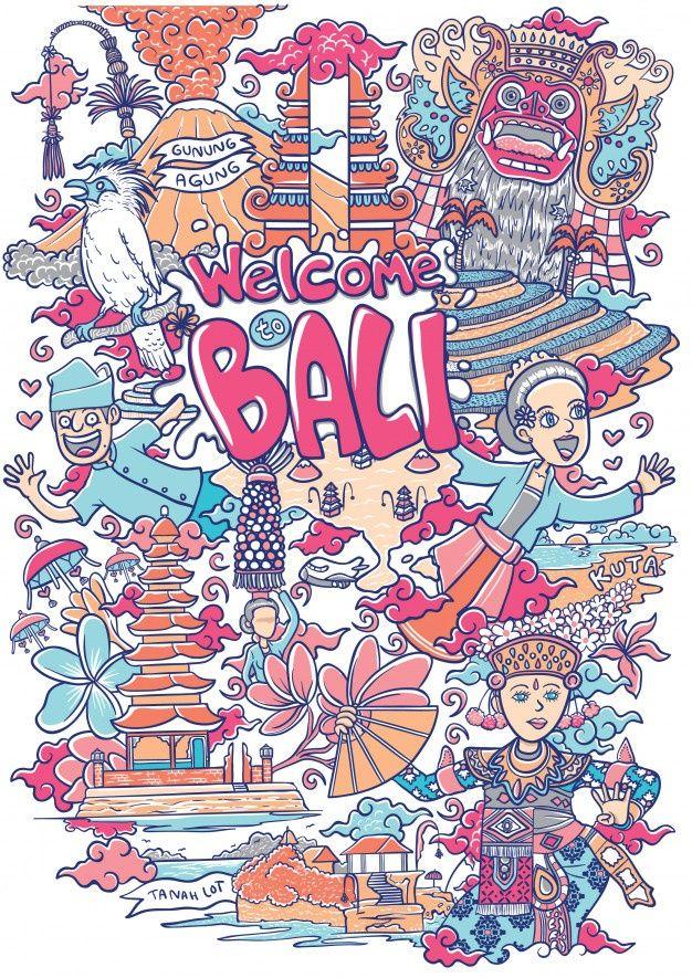 Pesona Indonesia Vector : pesona, indonesia, vector, Welcome, Illustration, Design, Illustration,