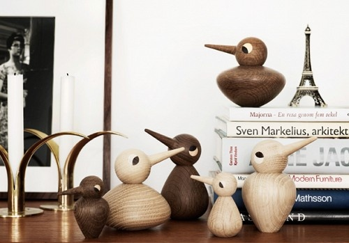 Adorable Danish wooden birds designed by Kristian Vedel in the 1950s.