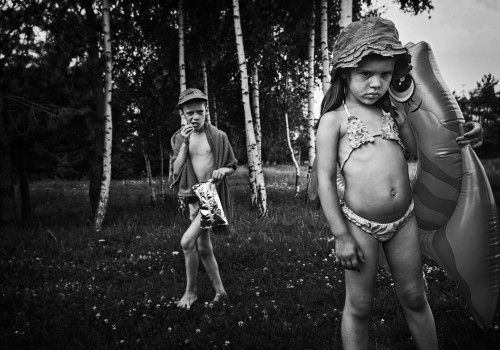 summertime scene by Monika Strzelecka