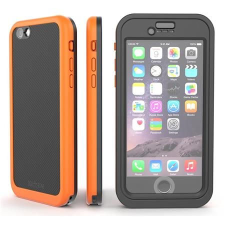 Image of Wetsuit Impact Waterproof Rugged Case for iPhone 6S/6, Electric Orange