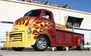 FOR SALE: One of a kind 1948 GMC COE Cab Over Truck - MAGAZINE FEATURED, full custom Harley hauler, MUST SEE! | HotrodHotline.com