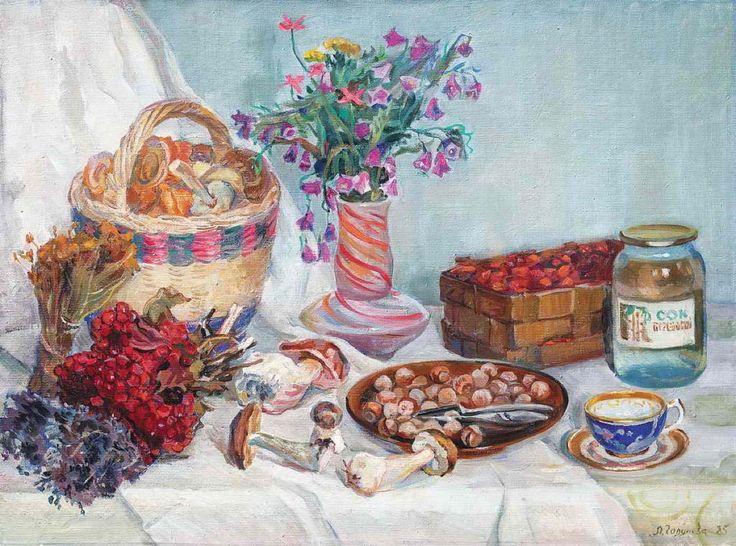 Годунова Лариса Александровна (1946) «Осенний натюрморт», 1985 г.