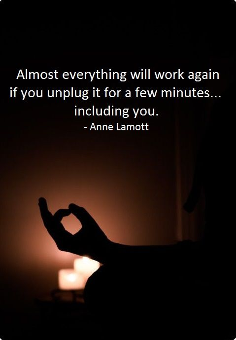 As an instructional technologist, I love this Anne Lamott quote about unplugging. One of the first troubleshooting techniques we use is to power down and reboot.  Our devices are not the only ones who need to do this from time to time!