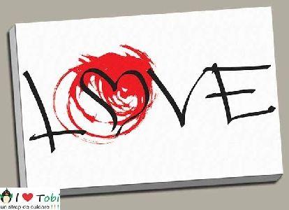Tablou canvas simple Love - cod B28