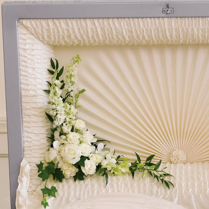 floral garland arrangement for casket | Funeral Flowers