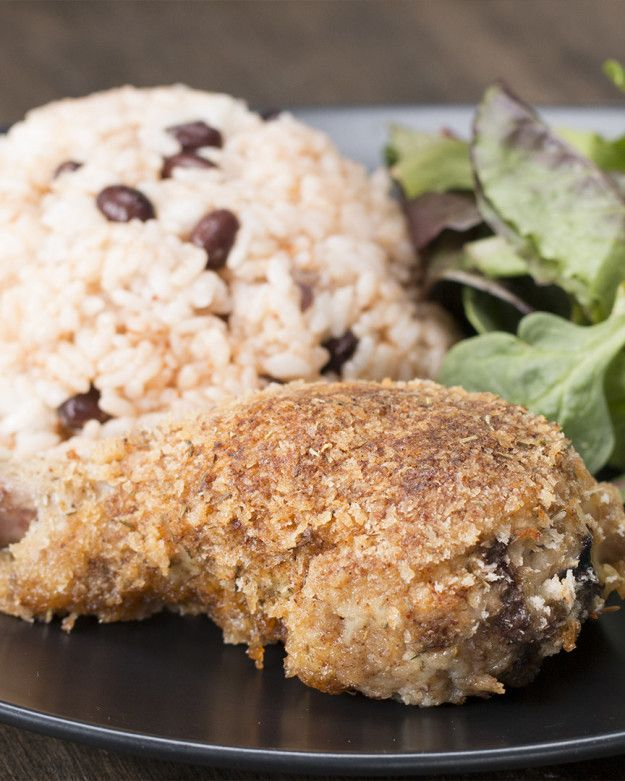 This oven-fried jerk chicken is sweet, spicy, and super easy to make.