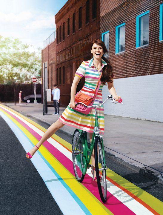 .Fashion, Bryce Dallas, Style, Colors, Dallas Howard, Dresses, Stripes, Kate Spade, Katespade