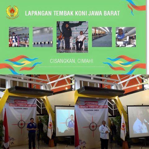 Hari ini peresmian Lapangan Tembak Koni Jabar di Cisangkan Cimahi. Dihadiri oleh Bapak Ahmad Heryawan, Bapak Ahmad Saefuddin, Walikota Cimahi, dan lain-lain.   Bapak Ahmad Heryawan menyampaikan ini merupakan langkah awal kebangkitan olahraga Jabar. #PONPeparnasJabar2016
