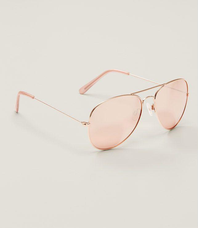 Primary Image of Gilded Aviator Sunglasses