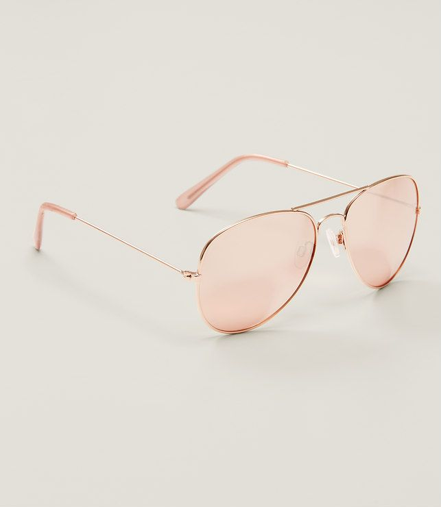Primary Image of Gilded Aviator Sunglasses