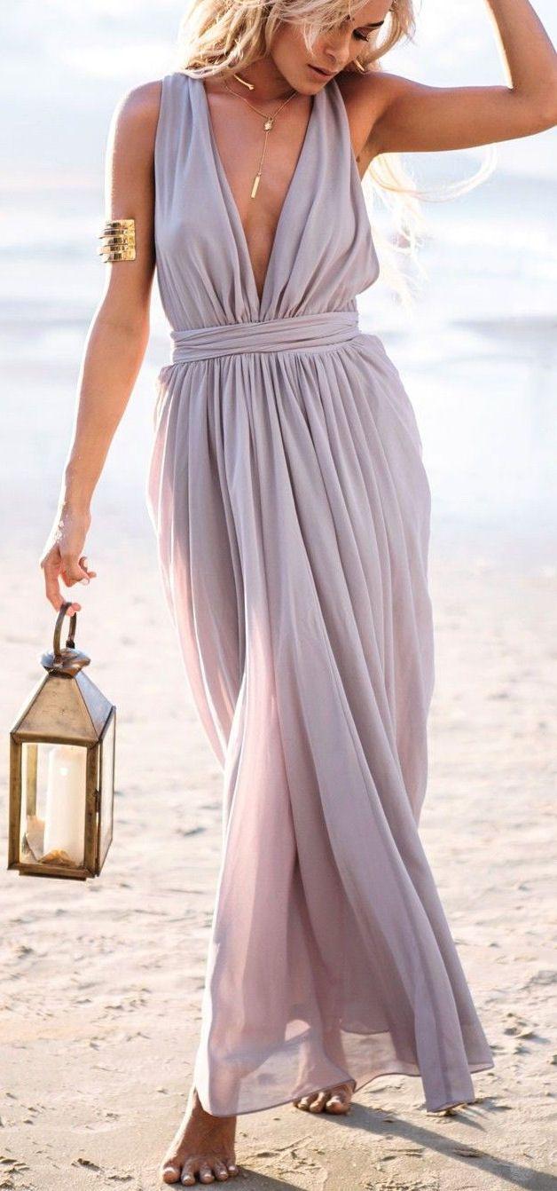 Brilliant Beach Wedding Idea // Bridesmaids Carry Lanterns Down the Aisle Instead Of Bouquets ❤︎ #beach #wedding #inspiration