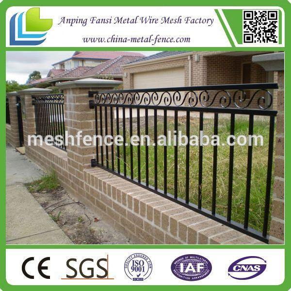 Alta calidad morden jardín de hierro forjado panel de la cerca para la venta en alibaba de china