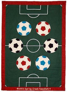soccer quilt.  When I get really good!!!!!