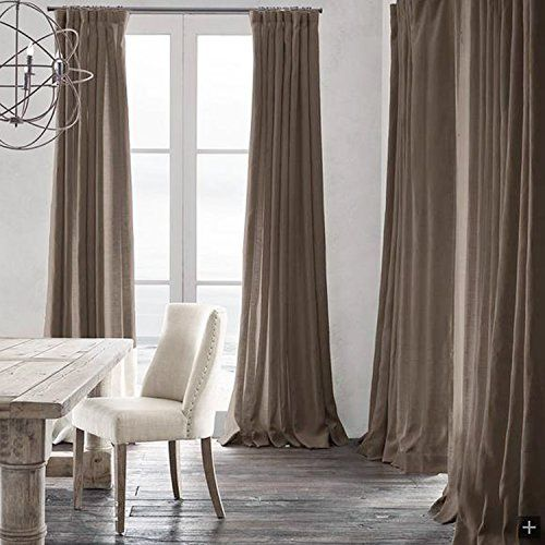 KoTing Home Fashion Natural Linen Brown Lined Curtain Hook Top,1 Panel,50 by 120-Inches,Customizable Extra Length,Multi Colors KoTing http://smile.amazon.com/dp/B015ZX6N0W/ref=cm_sw_r_pi_dp_dv2Uwb0EAHZBJ