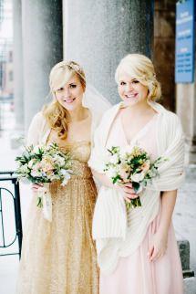 [Elegant] Bridal and bridesmaid attire