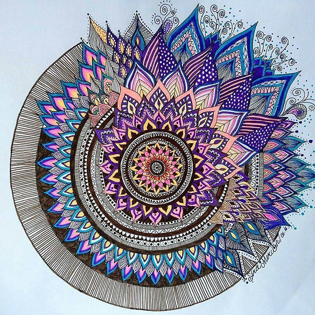 We love this mandala by @sira.mercan.design. Check out and follow this amazing artist!  submit your mandala to be featured on this page by using the hashtag: # mandalala                            Regrann