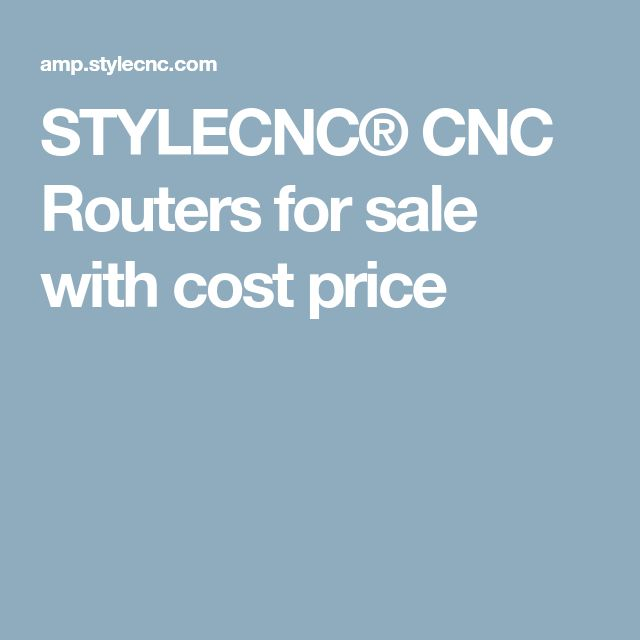 STYLECNC® CNC Routers for sale with cost price