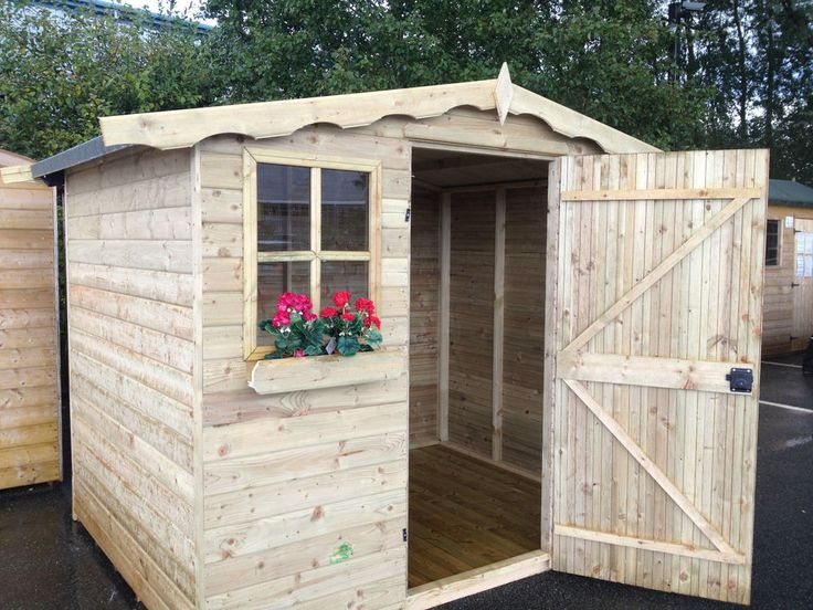 Garden Shed Fully T&G Tanalised Timber Cladding wooden Hut Sheds Summerhouse   | eBay
