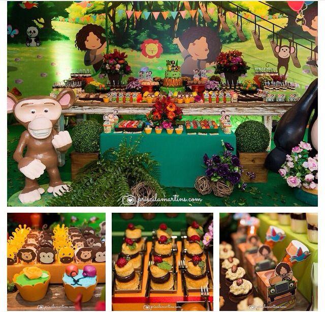 #decoração #festa #infantil #ideias #aniversario #meninoa #safari #verde