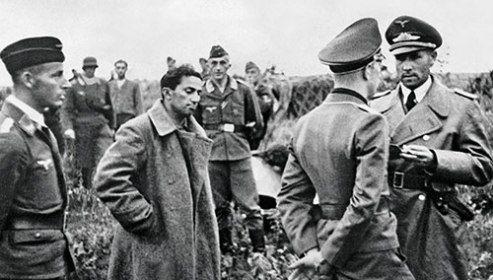 Stalin's son Yakov Dzhugashvili captured by the Germans, 1941