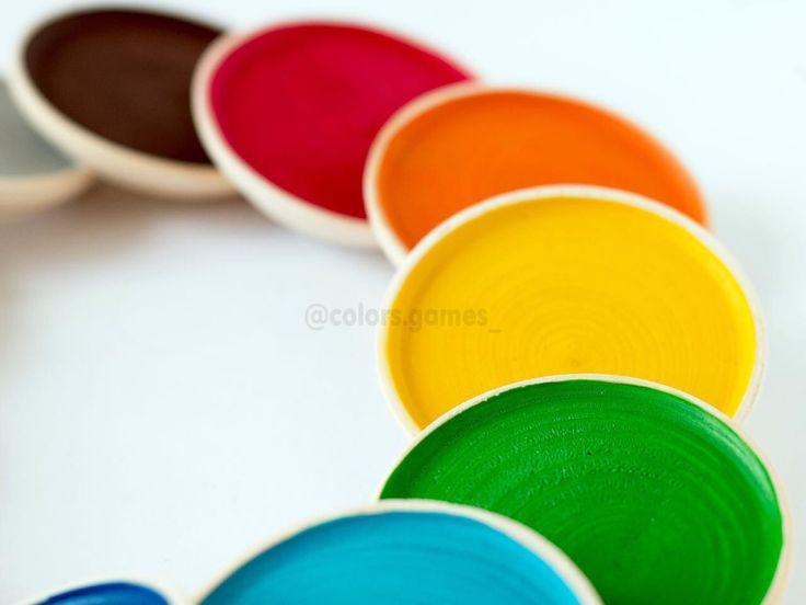 Тарелочки для сортировки по цветам