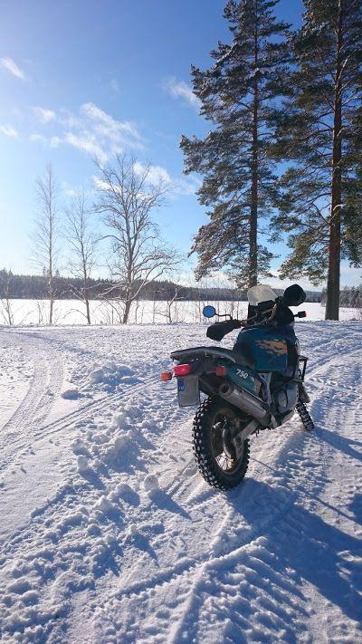 Talvimoottoripyöräily ei ole extreame-laji